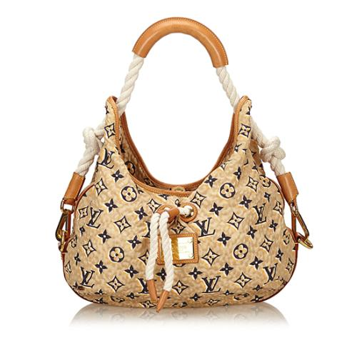 Louis Vuitton Nylon Limited Edition Bulles MM Shoulder Bag