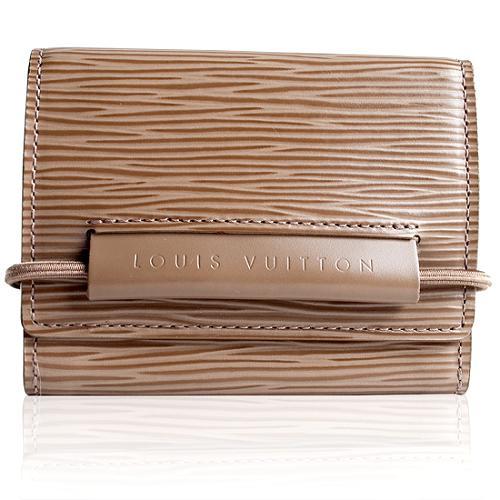 Louis Vuitton Pepper Epi Leather Monnaie Elastique Tri-fold Wallet
