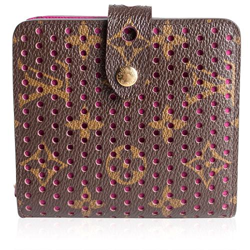 Louis Vuitton Perforated Monogram Compact Zippy Wallet