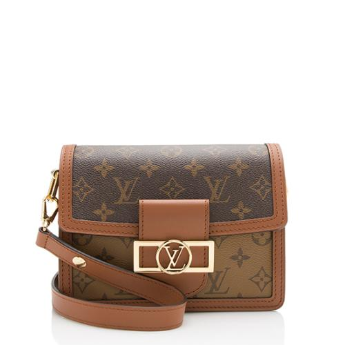 d1748fbe5b09 Louis Vuitton Reverse Monogram Mini Dauphine Shoulder Bag