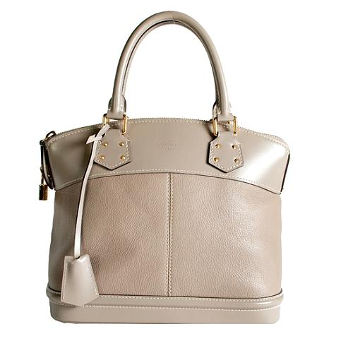 Louis Vuitton Suhali Leather Lockit PM Satchel Handbag