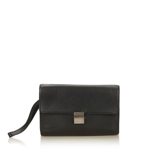 Louis Vuitton Taiga Leather Selenga Clutch