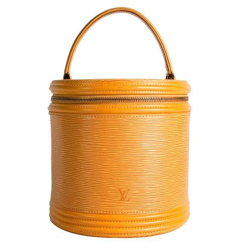 Louis Vuitton Tassil Yellow Epi Leather Cannes Satchel Handbag