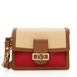Louis Vuitton Taurillon Leather Dauphine MM Shoulder Bag