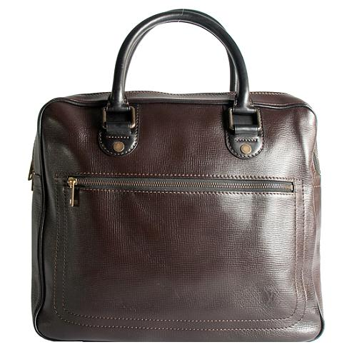 Louis Vuitton Utah Leather Huron Satchel Handbag