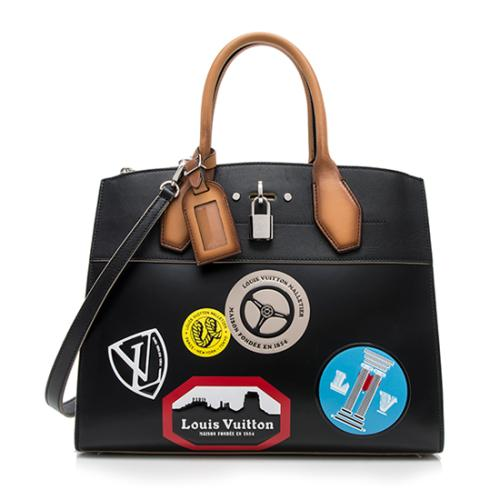 8c8d018965a7 Louis-Vuitton-Veau-Satin-Leather-World-Tour-City-Steamer-MM -Satchel 96336 front large 0.jpg