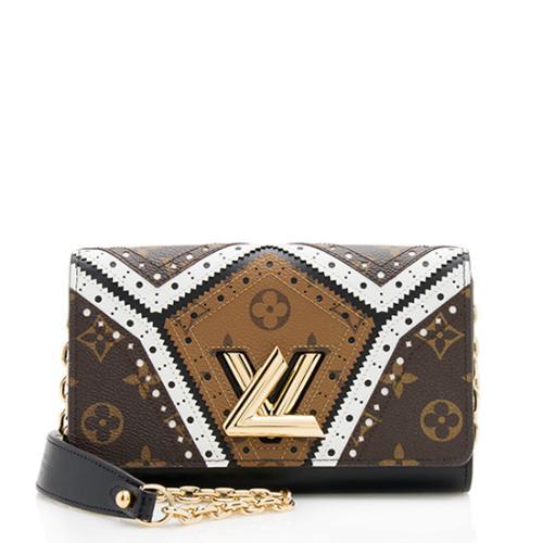 Louis Vuitton Veau Satin Monogram Twist Wallet on Chain