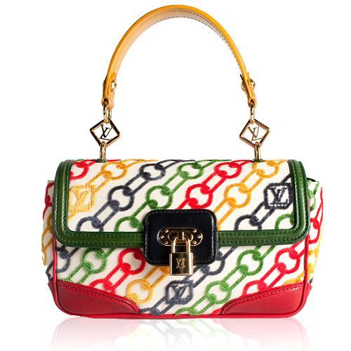 Louis Vuitton Velvet Chains Pochette Rabat Shoulder Handbag