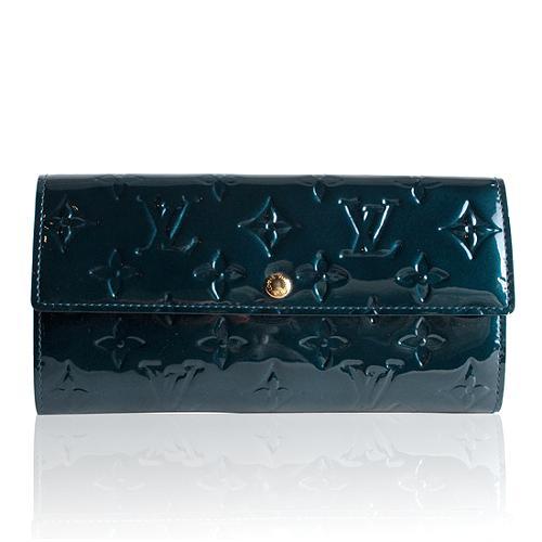 Louis Vuitton Vernis Bleu Nuit Sarah Wallet