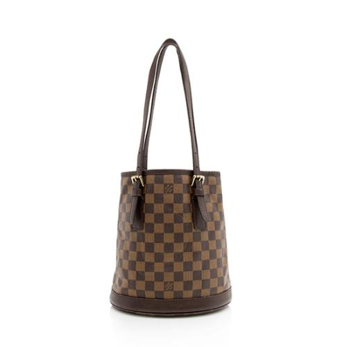 Louis Vuitton Vintage Damier Ebene Marais Bucket Tote