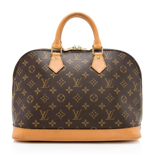 Louis Vuitton Vintage Monogram Canvas Alma MM Satchel