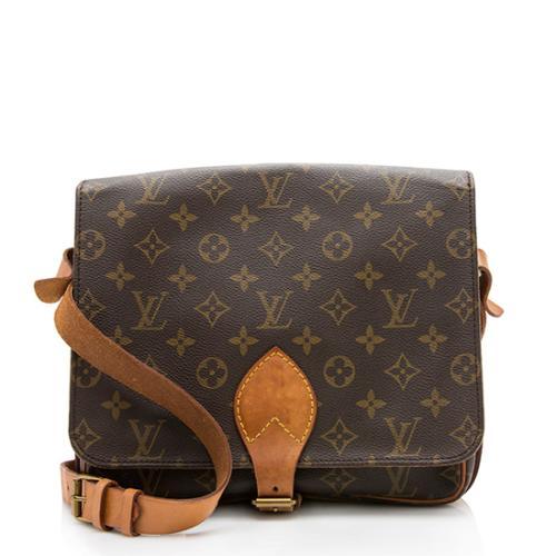Louis Vuitton Vintage Monogram Canvas Cartouchiere GM Shoulder Bag