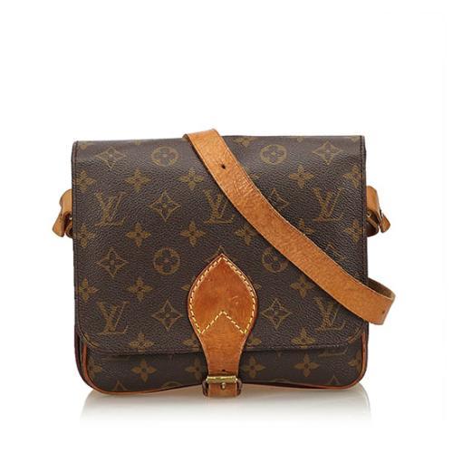 Louis Vuitton Vintage Monogram Canvas Cartouchiere MM Shoulder Bag