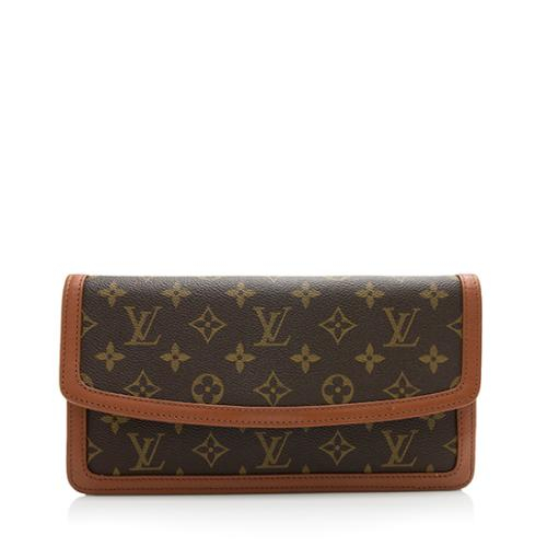 Louis Vuitton Vintage Monogram Canvas Dame 26 Clutch