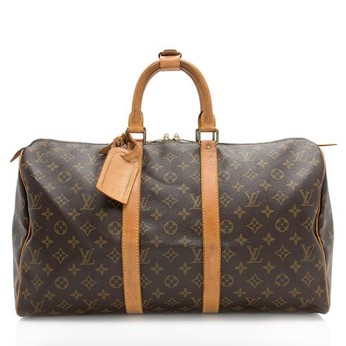 Louis Vuitton Vintage Monogram Canvas Keepall 45 Duffel Bag