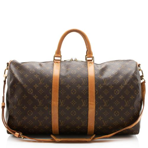 Louis Vuitton Vintage Monogram Canvas Keepall 50 Bandouliere Duffel Bag