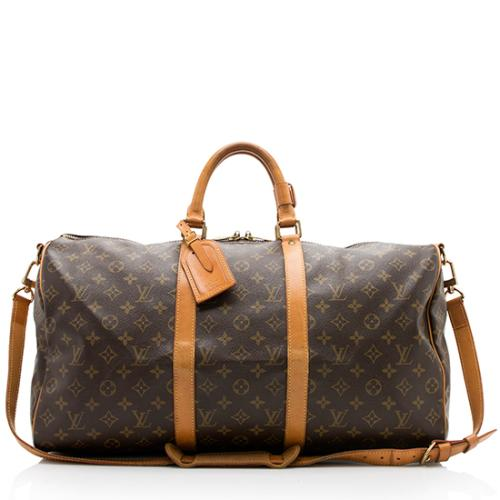 86bdc460e094 Louis Vuitton Vintage Monogram Canvas Keepall 50 Bandouliere Dufflel Bag