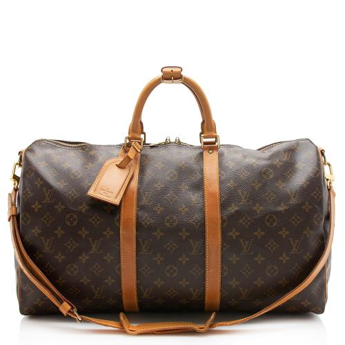 Louis Vuitton Vintage Monogram Canvas Keepall 50 Bandouliere Dufflel Bag