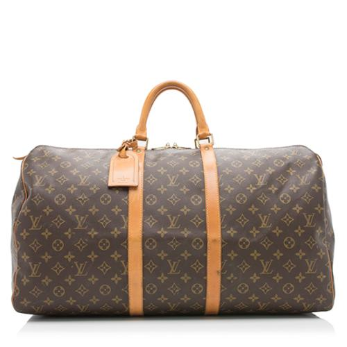 Louis Vuitton Vintage Monogram Canvas Keepall 55 Duffel Bag