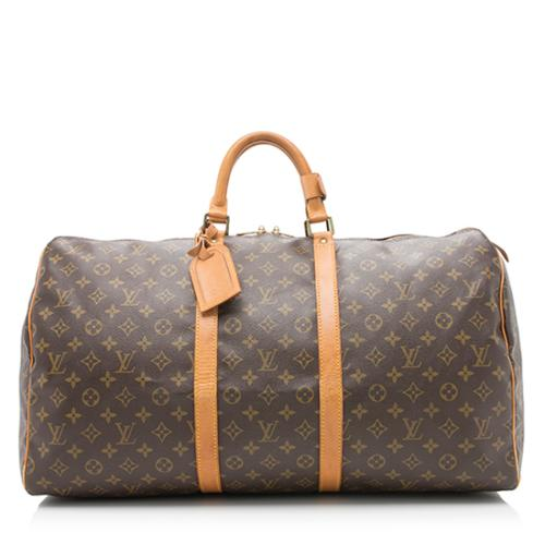 Louis Vuitton Vintage Monogram Canvas Keepall 55 Duffle Bag