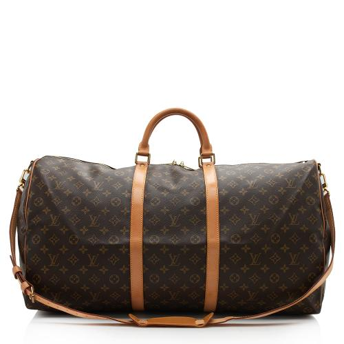 Louis Vuitton Vintage Monogram Canvas Keepall 60 Bandouliere Duffel Bag