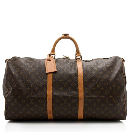 Louis Vuitton Vintage Monogram Canvas Keepall 60 Duffel Bag
