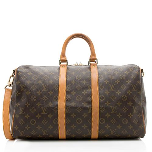 Louis Vuitton Vintage Monogram Canvas Keepall Bandouliere 45 Duffel Bag