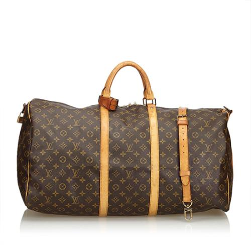 Louis Vuitton Vintage Monogram Canvas Keepall Bandouliere 60 Duffel Bag - FINAL