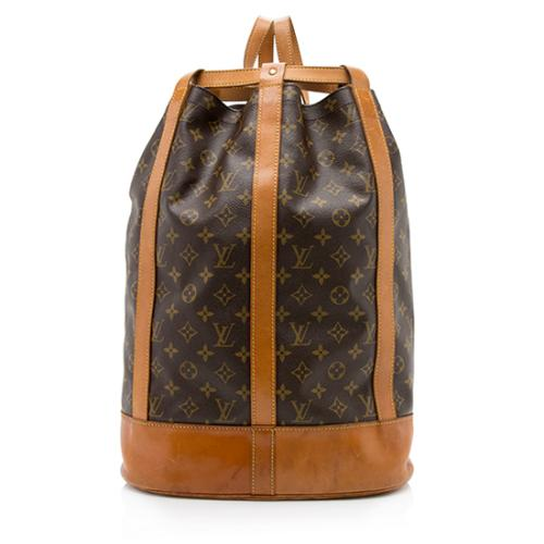 Louis Vuitton Vintage Monogram Canvas Randonnee GM Sling Shoulder Bag