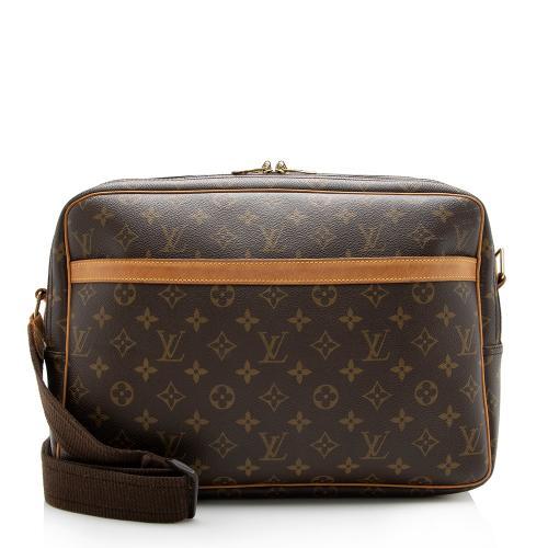 Louis Vuitton Vintage Monogram Canvas Reporter GM Messenger Bag