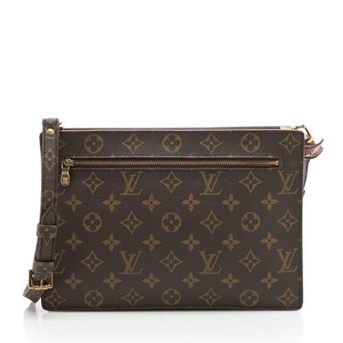 Louis Vuitton Vintage Monogram Canvas Sac Enghien Clutch Shoulder Bag