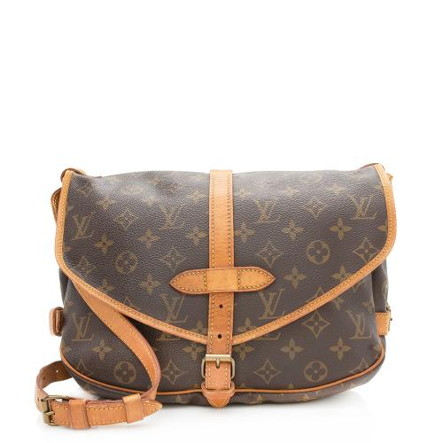 Louis Vuitton Vintage Monogram Canvas Saumur 30 Messenger Bag - FINAL SALE
