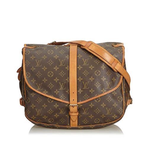 a98ceefc3378 Louis Vuitton Vintage Monogram Canvas Saumur 35 Messenger Bag