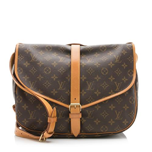 Louis Vuitton Vintage Monogram Canvas Saumur 35 Messenger Bag