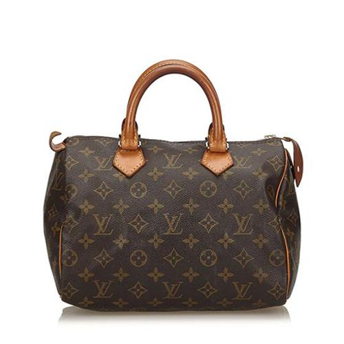 Louis Vuitton Vintage Monogram Canvas Speedy 25 Satchel
