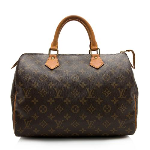 Louis Vuitton Vintage Monogram Canvas Speedy 30 Satchel