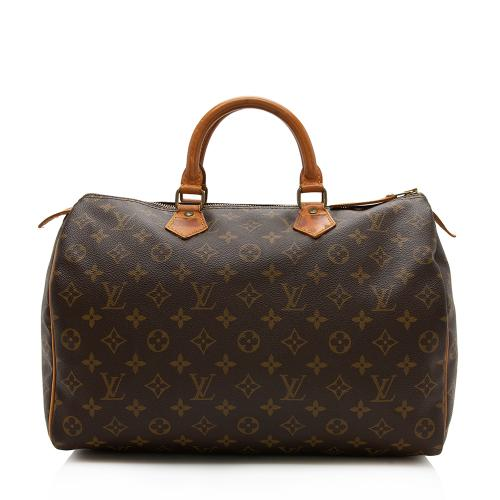 Louis Vuitton Vintage Monogram Canvas Speedy 35 Satchel - FINAL SALE