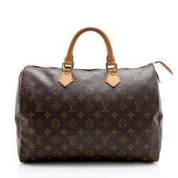 Louis Vuitton Vintage Monogram Canvas Speedy 35 Satchel