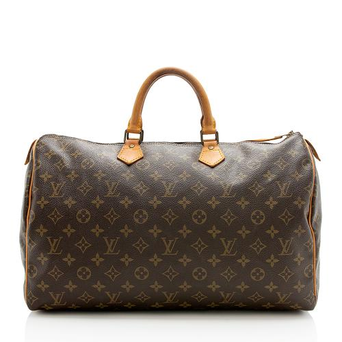 Louis Vuitton Vintage Monogram Canvas Speedy 40 Satchel - FINAL SALE