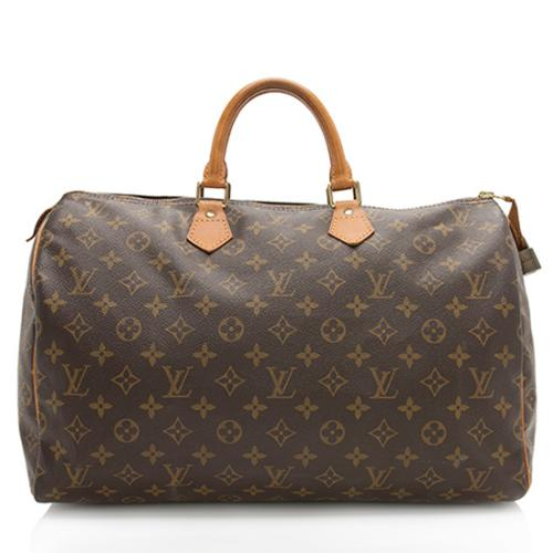 Louis Vuitton Vintage Monogram Canvas Speedy 40 Satchel