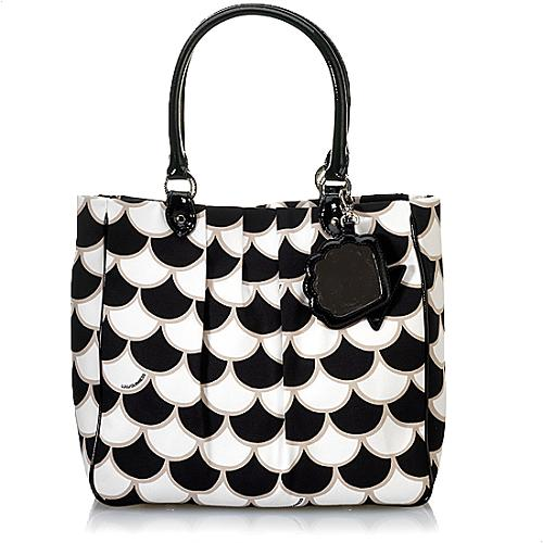 Lulu Guinness 50s Scallop Print Pleated Tote