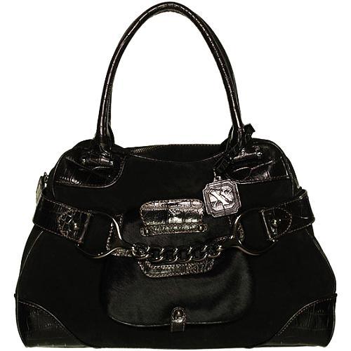 MAXX New York Pygmies Large Satchel Handbag