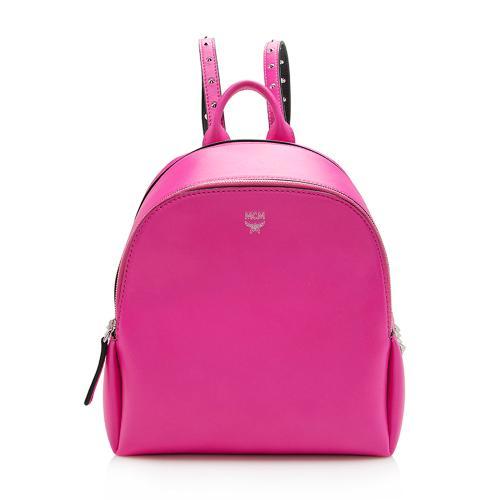 MCM Calfskin Duchess Polke Studs Mini Backpack
