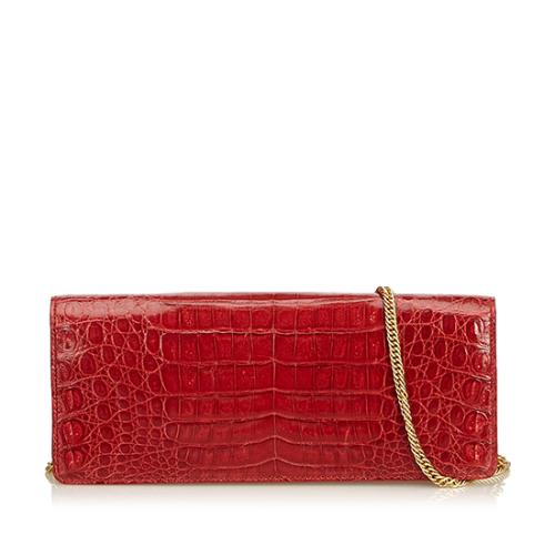 MCM Croc Embossed Chain Shoulder Bag