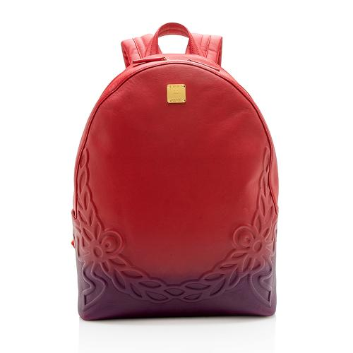 MCM Degrade Embossed Leather Laurel Backpack