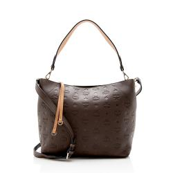 MCM Embossed Leather Klara Medium Hobo
