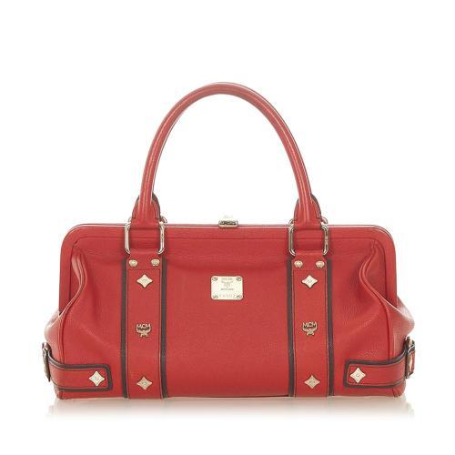 MCM Frame Leather Handbag
