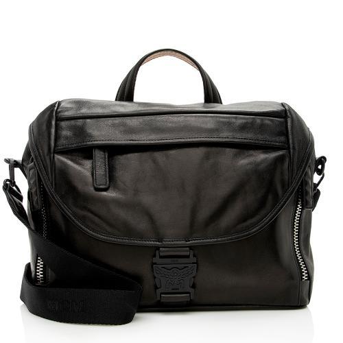 MCM Lambskin Killian Medium Messenger Bag