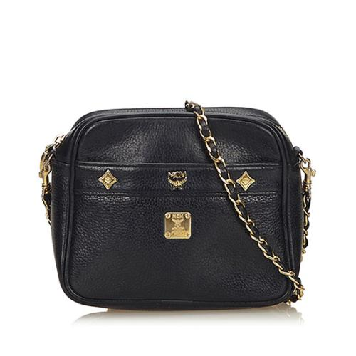 MCM Vintage Leather Charms Chain Crossbody Bag