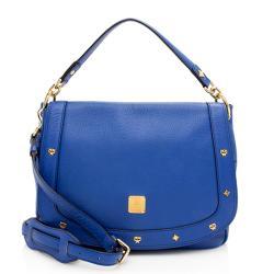 MCM Leather Charms Flap Shoulder Bag